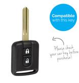 TBU car TBU car Autoschlüssel Hülle kompatibel mit Nissan 2 Tasten - Schutzhülle aus Silikon - Auto Schlüsselhülle Cover in Hellblau