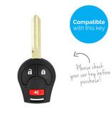 TBU car Autoschlüssel Hülle für Nissan 3 Tasten - Schutzhülle aus Silikon - Auto Schlüsselhülle Cover in Schwarz