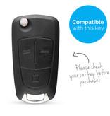 TBU car Autoschlüssel Hülle für Opel 3 Tasten - Schutzhülle aus Silikon - Auto Schlüsselhülle Cover in Schwarz