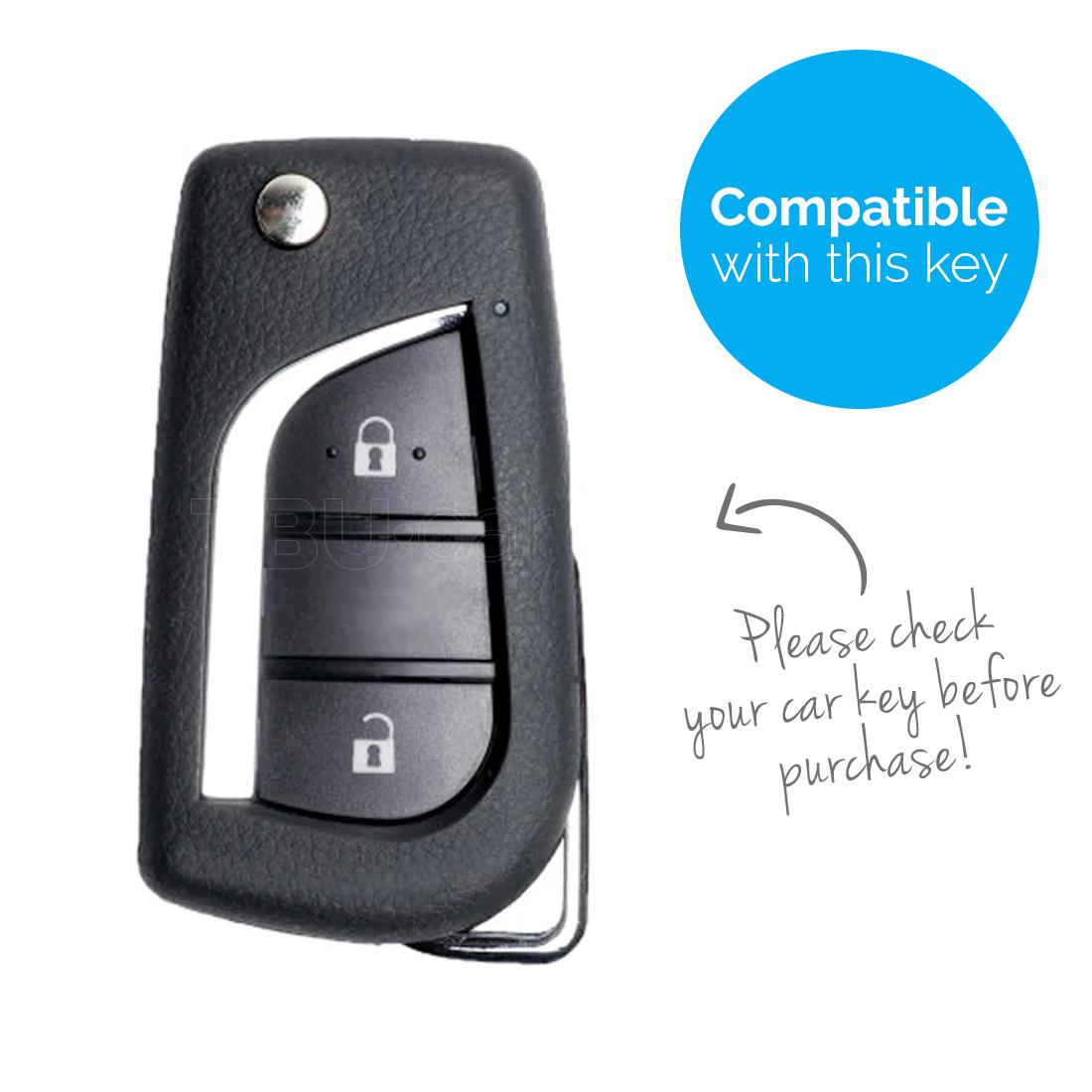 TBU car Autoschlüssel Hülle für Peugeot 2 Tasten - Schutzhülle aus Silikon - Auto Schlüsselhülle Cover in Weiß