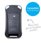 TBU car TBU car Sleutel cover compatibel met Porsche - Silicone sleutelhoesje - beschermhoesje autosleutel - Wit