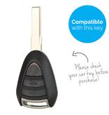 TBU car TBU car Sleutel cover compatibel met Porsche - Silicone sleutelhoesje - beschermhoesje autosleutel - Paars