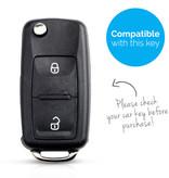 TBU car TBU car Autoschlüssel Hülle kompatibel mit Seat 2 Tasten - Schutzhülle aus TPU - Auto Schlüsselhülle Cover in Roségold