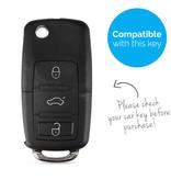 TBU car Autoschlüssel Hülle für Skoda 3 Tasten - Schutzhülle aus Silikon - Auto Schlüsselhülle Cover in Rosa