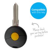TBU car TBU car Autoschlüssel Hülle kompatibel mit Smart 1 Taste - Schutzhülle aus Silikon - Auto Schlüsselhülle Cover in Schwarz