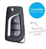 TBU car TBU car Autoschlüssel Hülle kompatibel mit Toyota 2 Tasten - Schutzhülle aus Silikon - Auto Schlüsselhülle Cover in Im Dunkeln leuchten