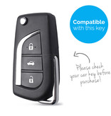 TBU car TBU car Sleutel cover compatibel met Toyota - Silicone sleutelhoesje - beschermhoesje autosleutel - Zwart