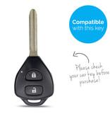 TBU car Autoschlüssel Hülle für Toyota 2 Tasten - Schutzhülle aus Silikon - Auto Schlüsselhülle Cover in Carbon