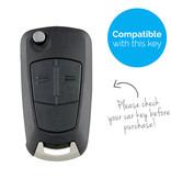 TBU car Autoschlüssel Hülle für Vauxhall 2 Tasten - Schutzhülle aus Silikon - Auto Schlüsselhülle Cover in Schwarz