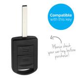 TBU car Autoschlüssel Hülle für Vauxhall 2 Tasten - Schutzhülle aus Silikon - Auto Schlüsselhülle Cover in Weiß