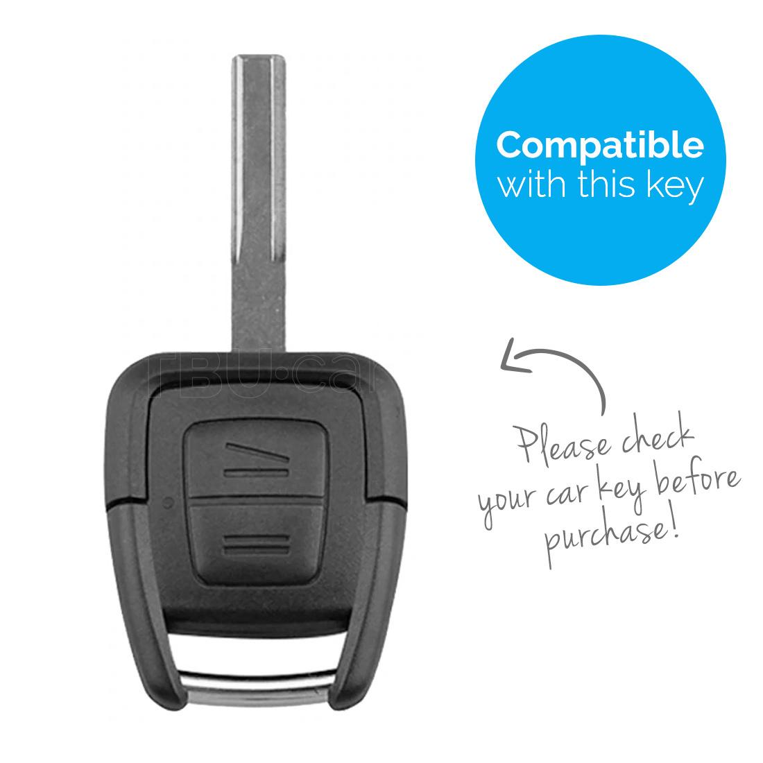 TBU car Autoschlüssel Hülle für Vauxhall 2 Tasten - Schutzhülle aus Silikon - Auto Schlüsselhülle Cover in Rosa