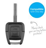 TBU car TBU car Autoschlüssel Hülle kompatibel mit Vauxhall 2 Tasten - Schutzhülle aus Silikon - Auto Schlüsselhülle Cover in Hellblau