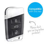 TBU car TBU car Autoschlüssel Hülle kompatibel mit VW 3 Tasten (Keyless Entry) - Schutzhülle aus TPU - Auto Schlüsselhülle Cover in Gold