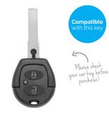 TBU car TBU car Autoschlüssel Hülle kompatibel mit VW 2 Tasten - Schutzhülle aus Silikon - Auto Schlüsselhülle Cover in Im Dunkeln leuchten