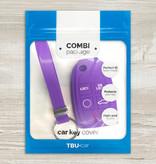 TBU car TBU car Sleutel cover compatibel met Volvo - Silicone sleutelhoesje - beschermhoesje autosleutel - Paars