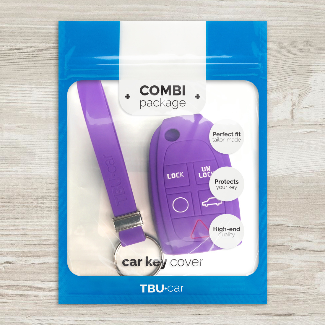 TBU car TBU car Autoschlüssel Hülle kompatibel mit Volvo 5 Tasten - Schutzhülle aus Silikon - Auto Schlüsselhülle Cover in Violett