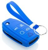 TBU car TBU car Sleutel cover compatibel met Volvo - Silicone sleutelhoesje - beschermhoesje autosleutel - Blauw