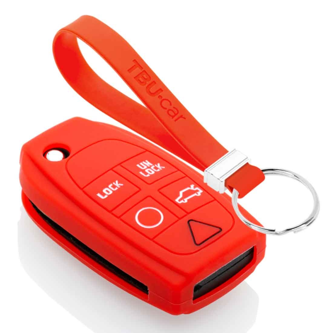 TBU car TBU car Sleutel cover compatibel met Volvo - Silicone sleutelhoesje - beschermhoesje autosleutel - Rood
