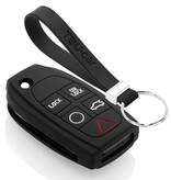 TBU car TBU car Autoschlüssel Hülle kompatibel mit Volvo 5 Tasten - Schutzhülle aus Silikon - Auto Schlüsselhülle Cover in Schwarz