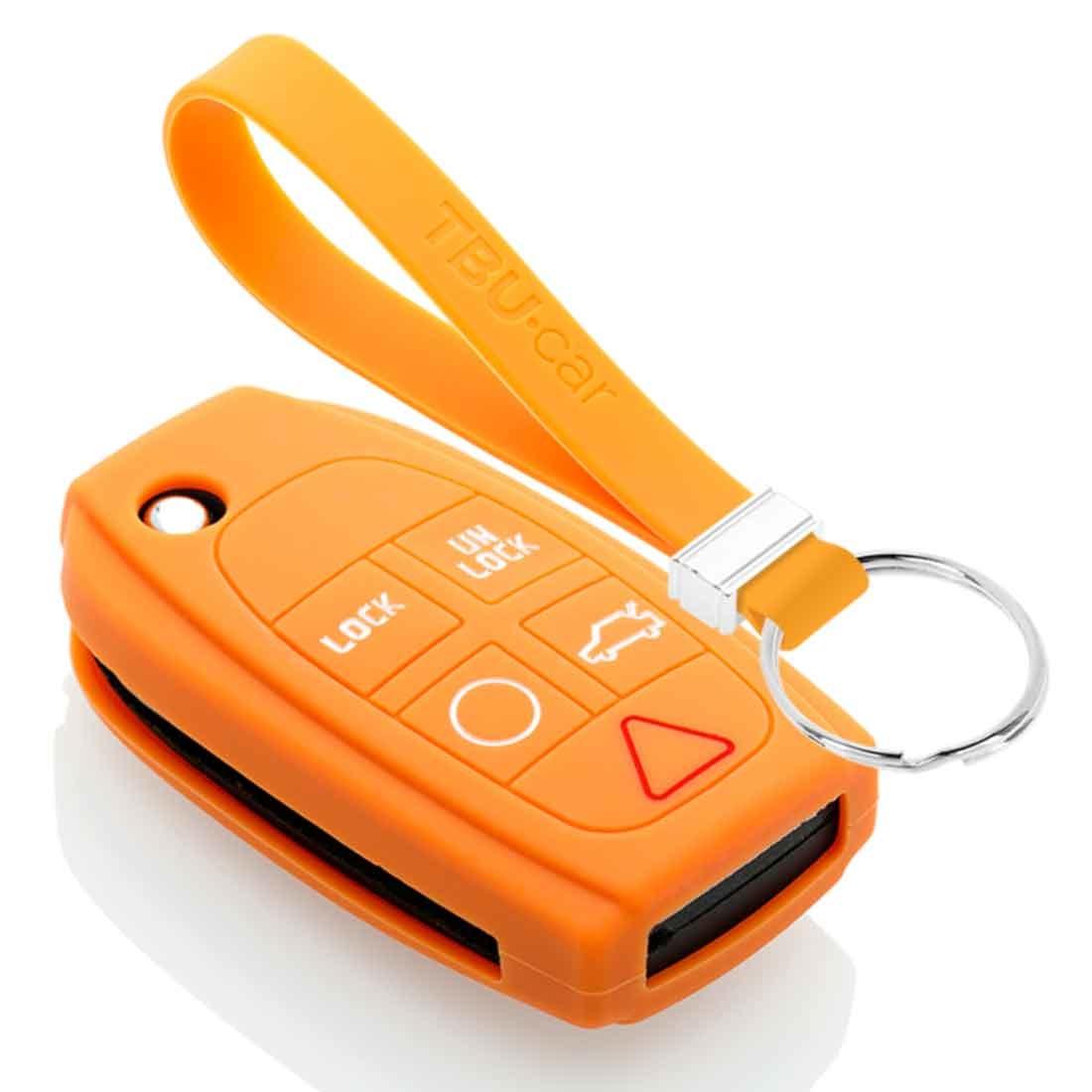 TBU car TBU car Sleutel cover compatibel met Volvo - Silicone sleutelhoesje - beschermhoesje autosleutel - Oranje