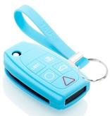 TBU car TBU car Sleutel cover compatibel met Volvo - Silicone sleutelhoesje - beschermhoesje autosleutel - Lichtblauw