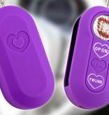 TBU car TBU car Autoschlüssel Hülle kompatibel mit Fiat 3 Tasten - Schutzhülle aus Silikon - Auto Schlüsselhülle Cover in Violett (Herzen)