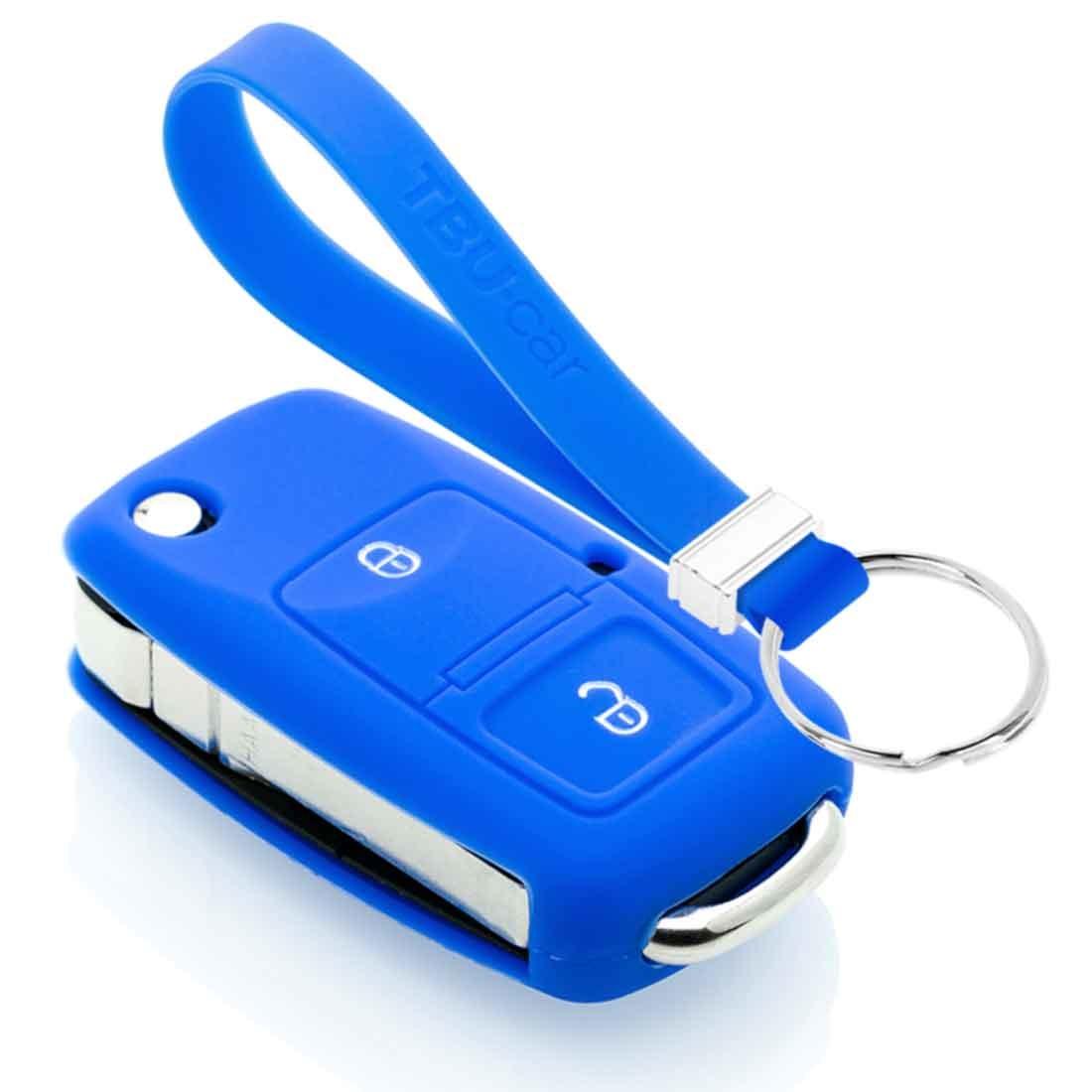 TBU car TBU car Sleutel cover compatibel met Skoda - Silicone sleutelhoesje - beschermhoesje autosleutel - Blauw