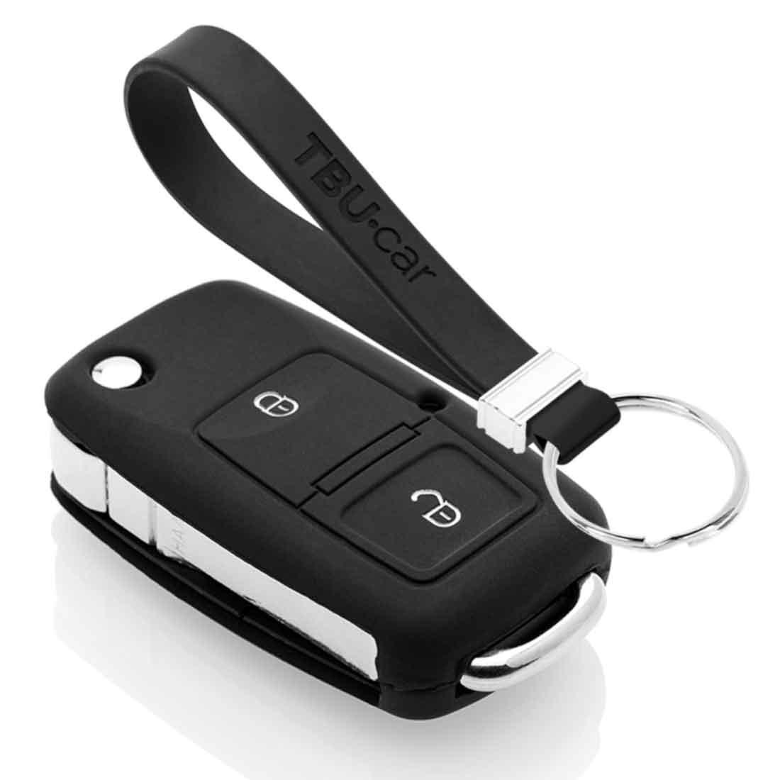 TBU car TBU car Sleutel cover compatibel met VW - Silicone sleutelhoesje - beschermhoesje autosleutel - Zwart