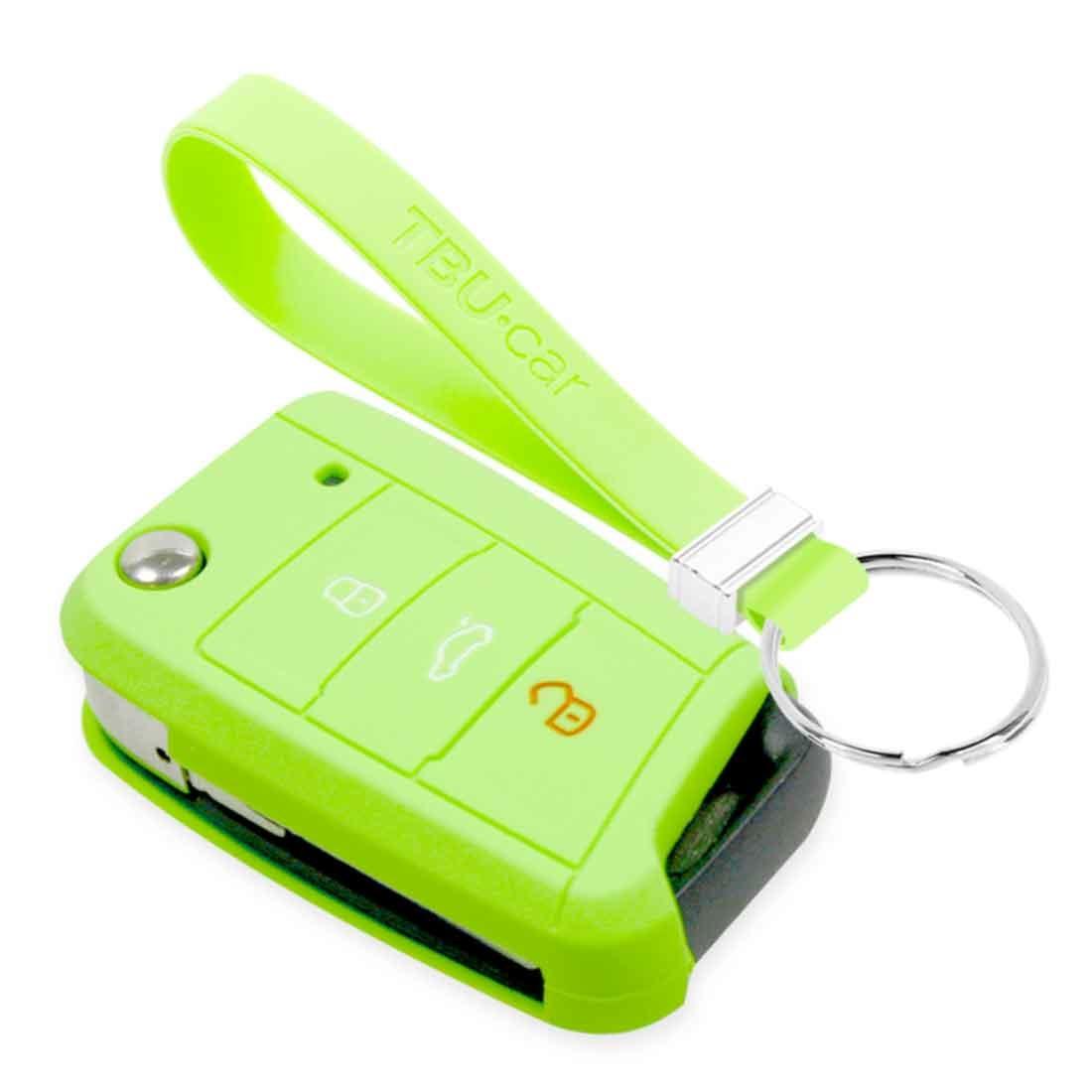 TBU car TBU car Sleutel cover compatibel met VW - Silicone sleutelhoesje - beschermhoesje autosleutel - Glow in the Dark