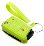 TBU car TBU car Autoschlüssel Hülle kompatibel mit Seat 3 Tasten - Schutzhülle aus Silikon - Auto Schlüsselhülle Cover in Lindgrün
