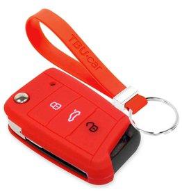 TBU car Skoda Car key cover - Red