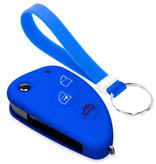 TBU car TBU car Car key cover compatible with Alfa Romeo - Silicone Protective Remote Key Shell - FOB Case Cover - Blue