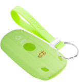 TBU car TBU car Car key cover compatible with BMW - Silicone Protective Remote Key Shell - FOB Case Cover - Glow in the Dark
