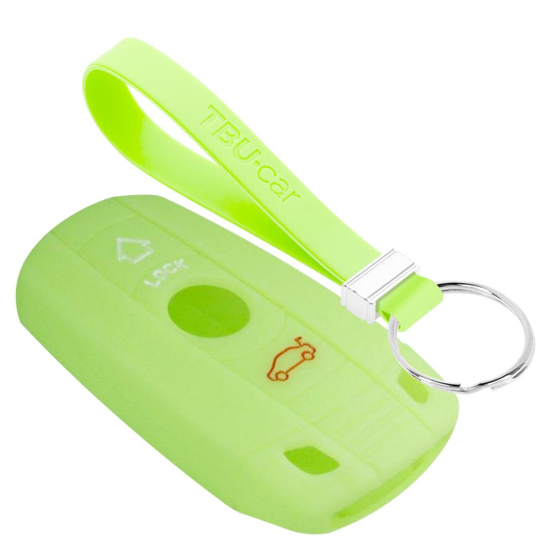 TBU car TBU car Autoschlüssel Hülle kompatibel mit BMW 3 Tasten (Keyless Entry) - Schutzhülle aus Silikon - Auto Schlüsselhülle Cover in Im Dunkeln leuchten