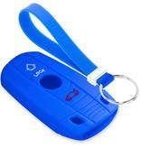 TBU car TBU car Autoschlüssel Hülle kompatibel mit BMW 3 Tasten (Keyless Entry) - Schutzhülle aus Silikon - Auto Schlüsselhülle Cover in Blau