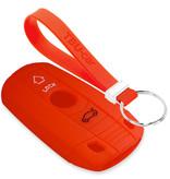 TBU car TBU car Autoschlüssel Hülle kompatibel mit BMW 3 Tasten (Keyless Entry) - Schutzhülle aus Silikon - Auto Schlüsselhülle Cover in Rot
