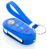 TBU car TBU car Autoschlüssel Hülle kompatibel mit Alfa Romeo 3 Tasten - Schutzhülle aus Silikon - Auto Schlüsselhülle Cover in Blau