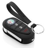 TBU car TBU car Autoschlüssel Hülle kompatibel mit Alfa Romeo 3 Tasten - Schutzhülle aus Silikon - Auto Schlüsselhülle Cover in Schwarz