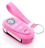 TBU car TBU car Car key cover compatible with Alfa Romeo - Silicone Protective Remote Key Shell - FOB Case Cover - Pink