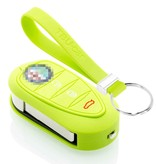 TBU car TBU car Autoschlüssel Hülle kompatibel mit Alfa Romeo 3 Tasten - Schutzhülle aus Silikon - Auto Schlüsselhülle Cover in Lindgrün