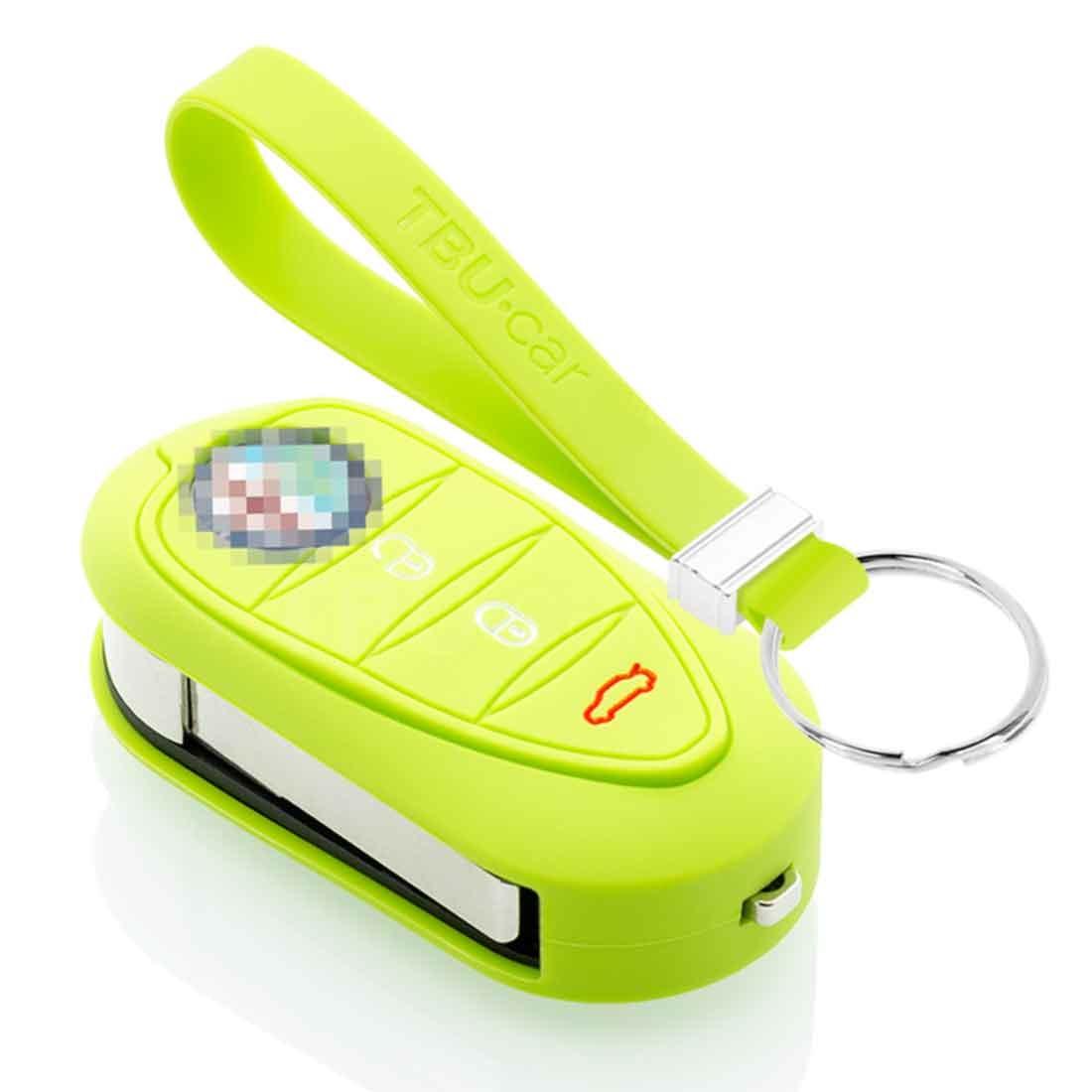 TBU car TBU car Funda Carcasa llave compatible con Alfa Romeo - Funda de Silicona - Cover de Llave Coche - Verde lima