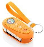 TBU car TBU car Car key cover compatible with Alfa Romeo - Silicone Protective Remote Key Shell - FOB Case Cover - Orange