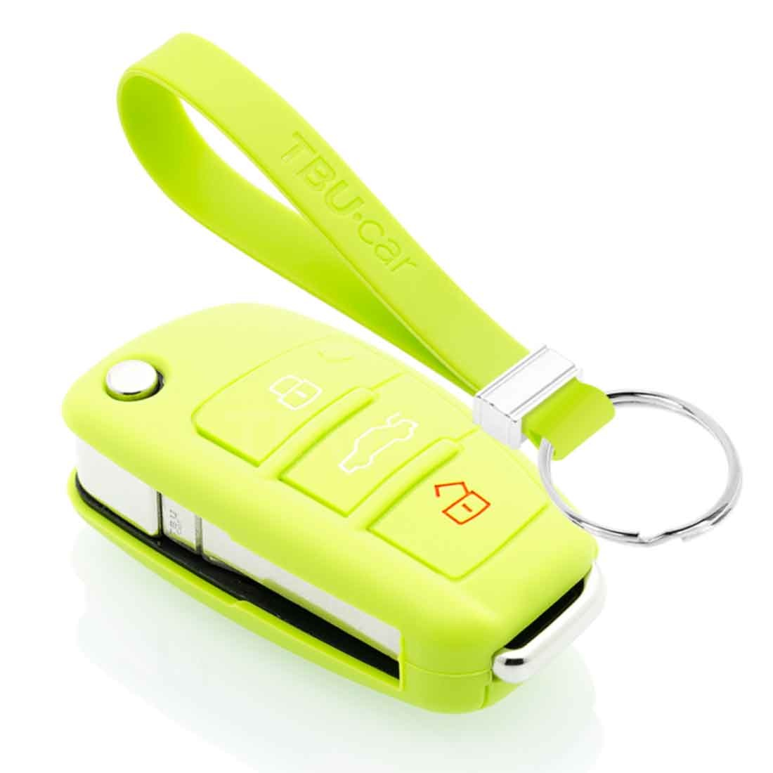 TBU car TBU car Funda Carcasa llave compatible con Audi - Funda de Silicona - Cover de Llave Coche - Verde lima