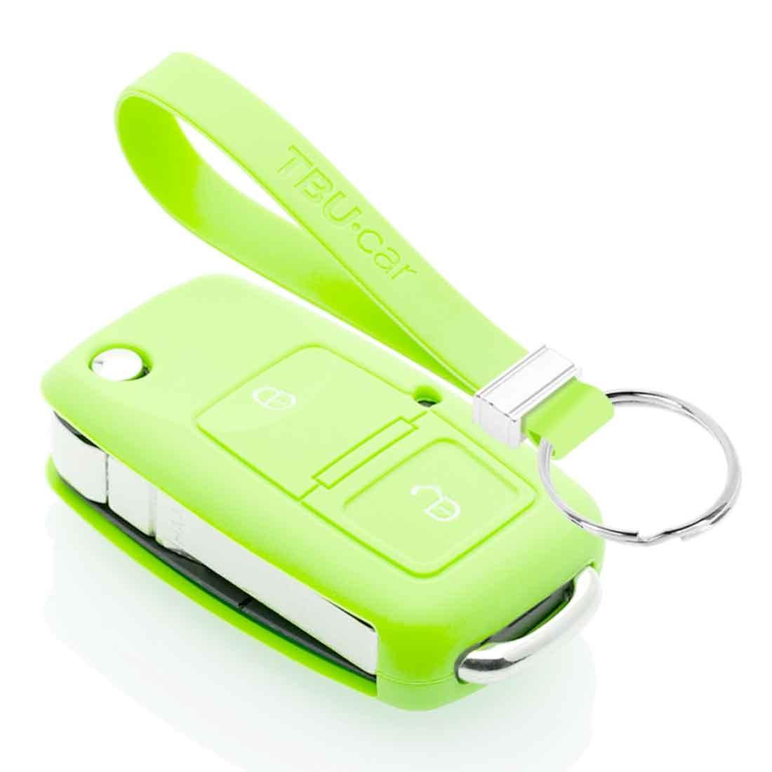 TBU car TBU car Autoschlüssel Hülle kompatibel mit Audi 2 Tasten - Schutzhülle aus Silikon - Auto Schlüsselhülle Cover in Im Dunkeln leuchten