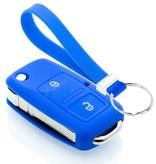 TBU car TBU car Autoschlüssel Hülle kompatibel mit Audi 2 Tasten - Schutzhülle aus Silikon - Auto Schlüsselhülle Cover in Blau