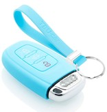 TBU car TBU car Autoschlüssel Hülle kompatibel mit Audi 3 Tasten (Keyless Entry) - Schutzhülle aus Silikon - Auto Schlüsselhülle Cover in Hellblau