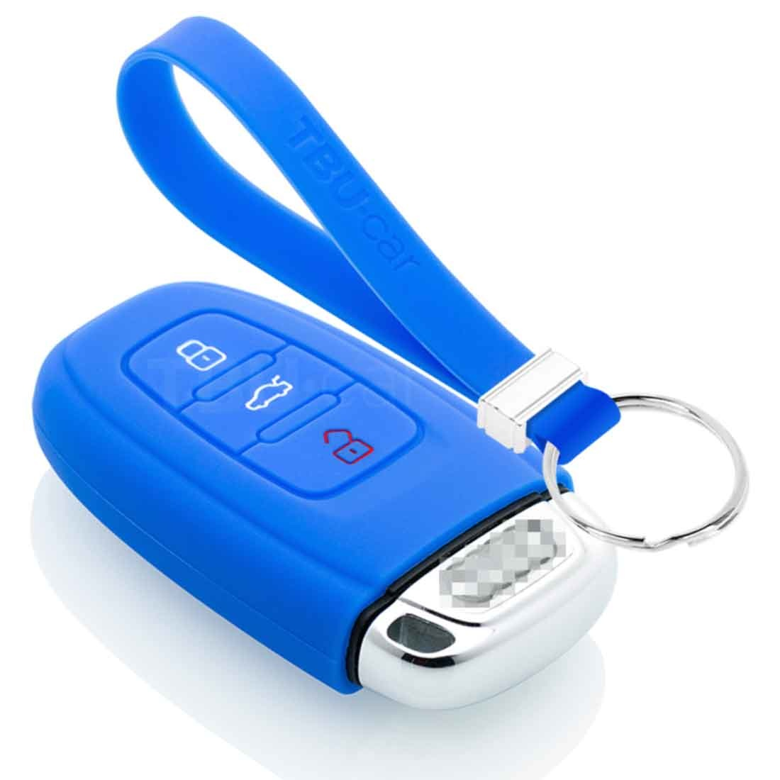 TBU car TBU car Car key cover compatible with Audi - Silicone Protective Remote Key Shell - FOB Case Cover - Blue