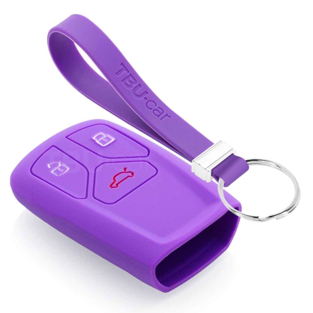 TBU car TBU car Car key cover compatible with Audi - Silicone Protective Remote Key Shell - FOB Case Cover - Purple