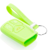 TBU car TBU car Car key cover compatible with Audi - Silicone Protective Remote Key Shell - FOB Case Cover - Glow in the Dark