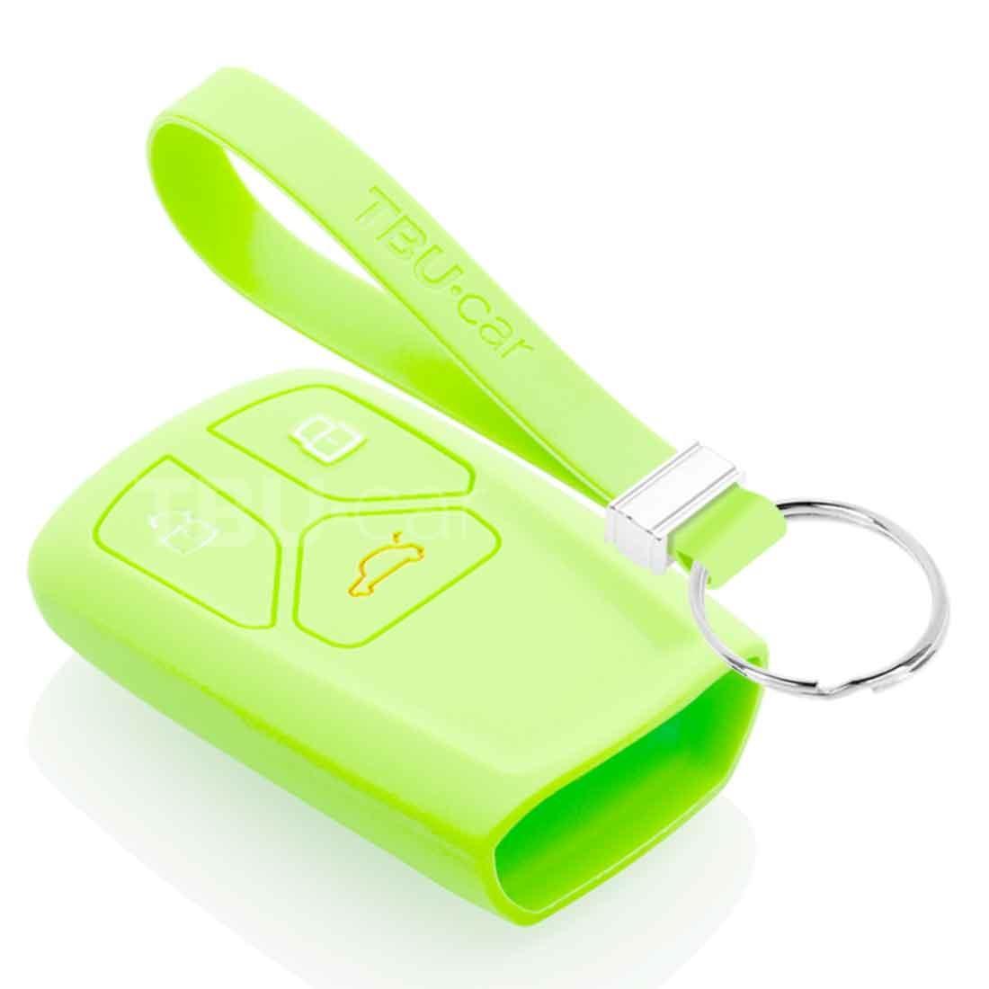 TBU car TBU car Autoschlüssel Hülle kompatibel mit Audi 3 Tasten (Keyless Entry) - Schutzhülle aus Silikon - Auto Schlüsselhülle Cover in Im Dunkeln leuchten